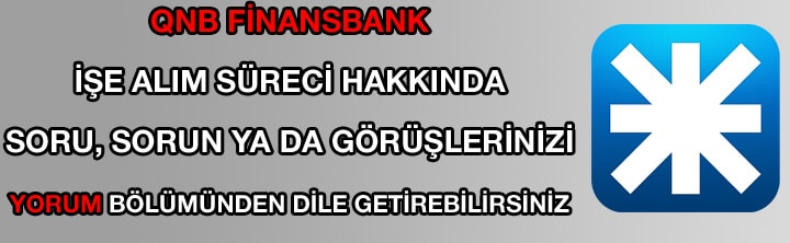 QNB Finansbank iş ilanları