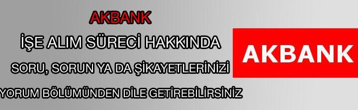 Akbank iş ilanları