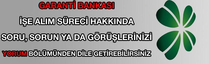 Garanti Bankası iş ilanları