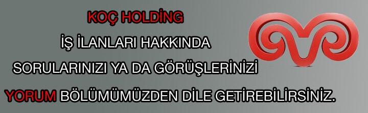 Koç Holding iş ilanları