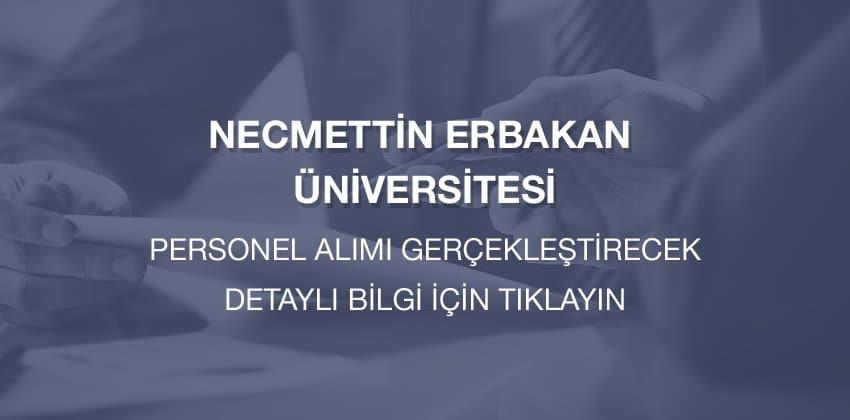 Necmettin Erbakan Üniversitesi personel alımı