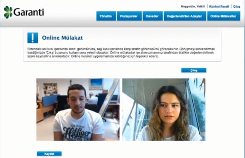 online mülakat garanti bankası